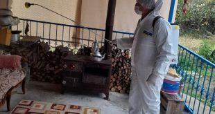 Belediyenin dezenfekte çalışmaları sürüyor