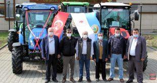 ORKÖY projesiyle alınan 5 traktör orman köylüsüne verildi