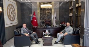 MÜSİAD Şube Başkanı Ünal'a , Kaymakam Türköz'den hayırlı olsun ziyareti